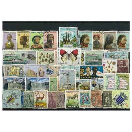 Angola - 25 different stamps