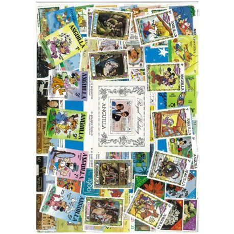 Collection de timbres Anguilla oblitérés