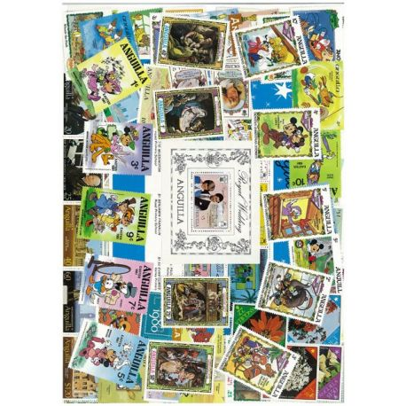 Anguilla - 10 different stamps