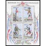 Francobollo France Bloc N° 10 nove senza cerniera