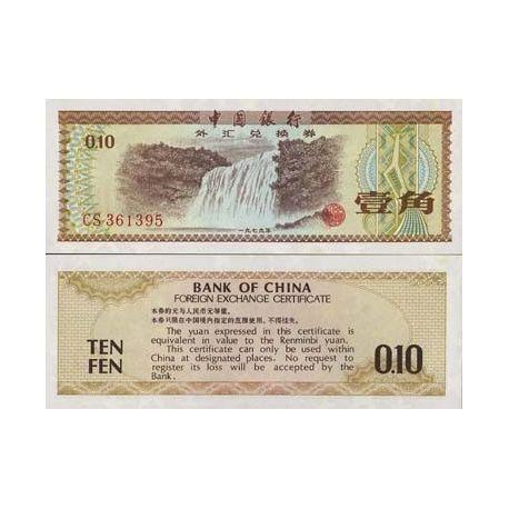 Chine - Pk N° 1 - Billet de 0,1 Japonaise