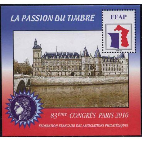Bloque FFAP N° Yvert y Tellier 4 - nuevo sin bisagra