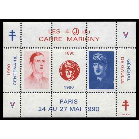 Bloc Carré Marigny N° Yvert et Tellier 2 - neuf sans charnière