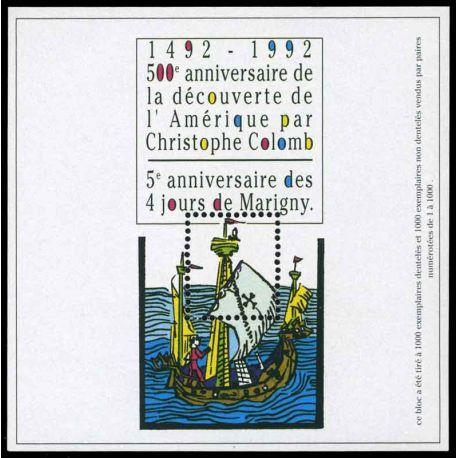 Bloc Carré Marigny N° Yvert et Tellier 4 - neuf sans charnière