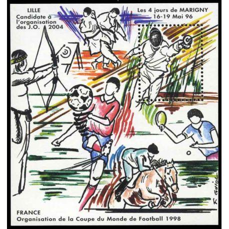 Bloc Carré Marigny N° Yvert et Tellier 8 - neuf sans charnière