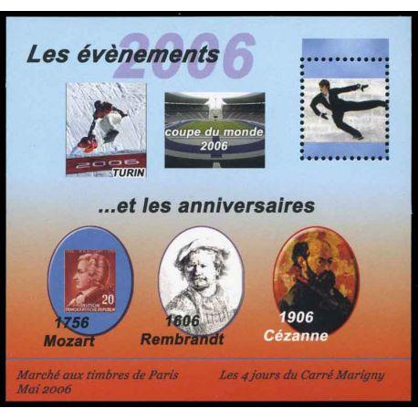Bloc Carré Marigny N° Yvert et Tellier 18 - neuf sans charnière