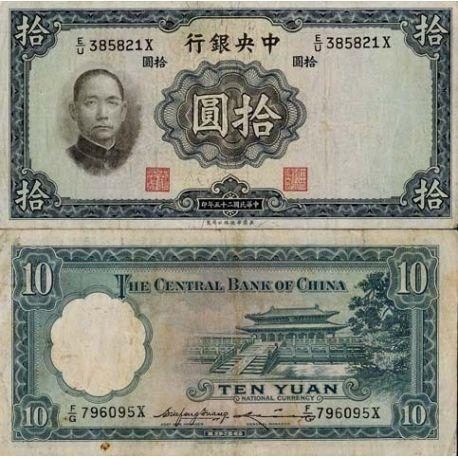Chine - Pk N° 218 - Billet de 10 Yuan