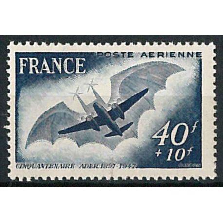 Francobollo posta aerea France N° 23b nove senza cerniera