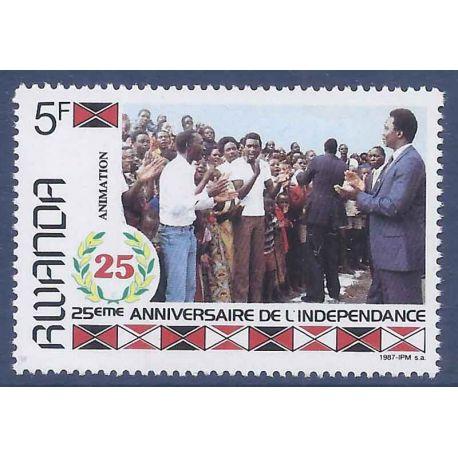 Rwanda Timbres non-émis de 1987 neuf sans charnière