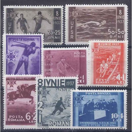 Roumanie N° 515 à 522 neuf avec charnière