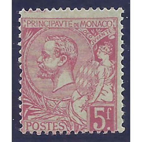 Monaco timbre N° 21 avec charnière
