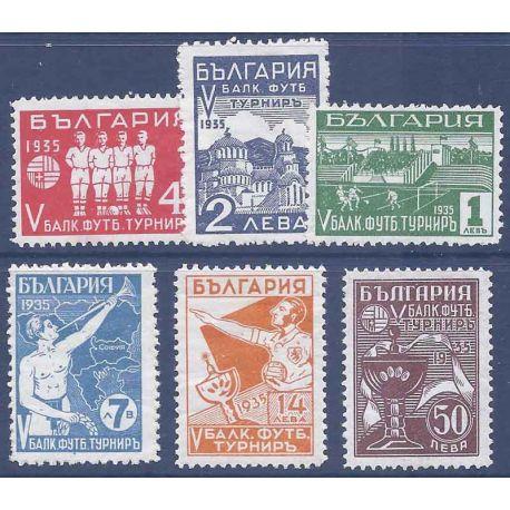 Bulgarie N° 252 à 257 avec charnière