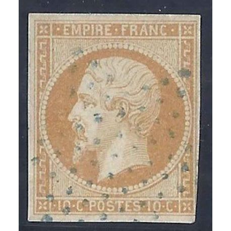 France N° Yvert et Tellier 13A - Oblitéré 10 cts second empire