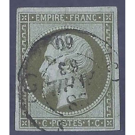 France N° Yvert et Tellier 11 - Oblitéré 1ct second empire