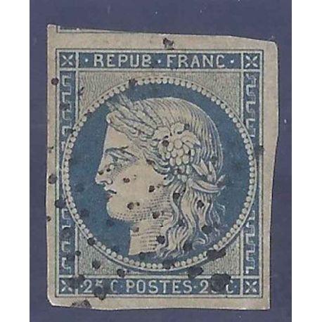 France N° Yvert et Tellier 4a - Oblitéré 25cts Cérès