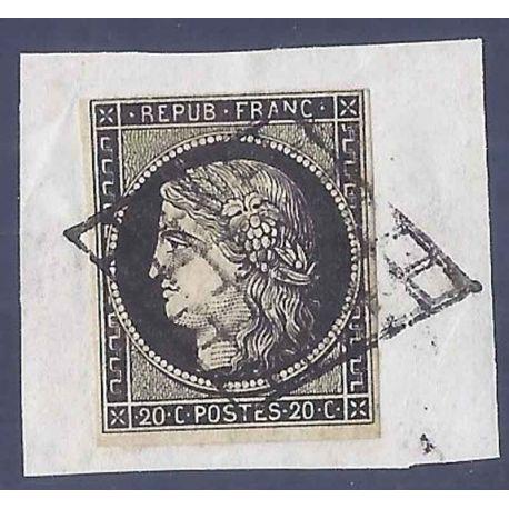 France N° Yvert et Tellier 3 - Oblitéré 20cts Cérès