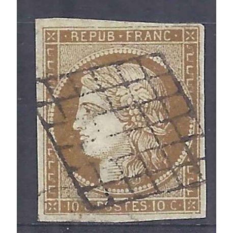 France N° 1 - Oblitéré 10cts Cérès