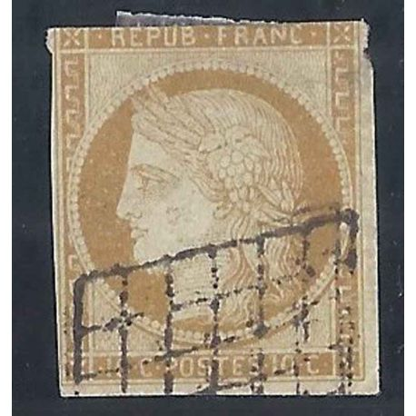 France N° Yvert et Tellier 1 - Oblitéré 10cts Cérès