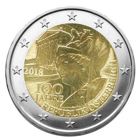 Autriche 2018 - Pièce 2 Euro commémorative République
