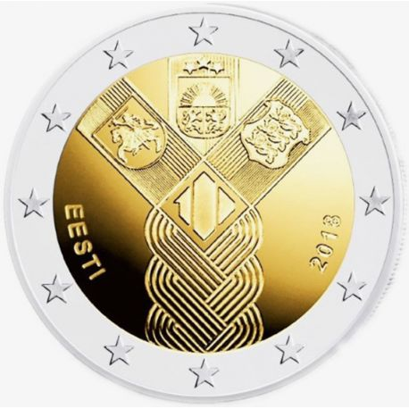 Estonia 2018 - Commemorative coin 2 Euro 100 years independence