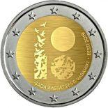 Estonia 2018 - moneta 2 euro commemorativa 100 anni repubblica