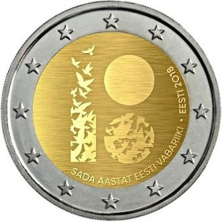 Estonia 2018 - Commemorative coin 2 Euro 100 years republic