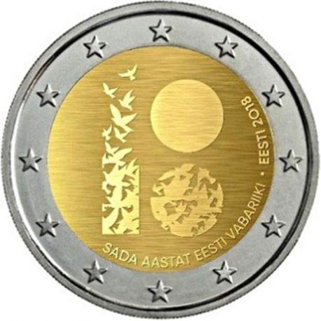Estonie 2018 - Pièce 2 Euro commémorative 100 ans république