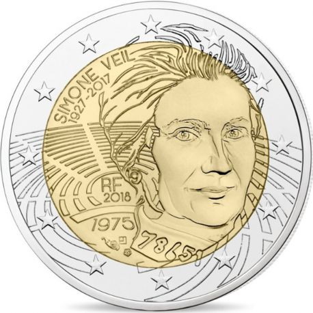 France 2018 - Commemorative coin 2 Euro Simone Veil