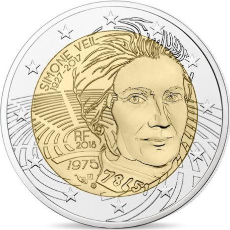 France 2018 - Pièce 2 Euro commémorative Simone Veil