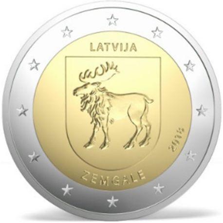 Lettonia 2018 - moneta 2 euro commemorativa Zemgale