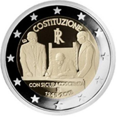 Italia 2018 - 2 euro costituzione