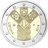 Lituania 2018 - moneta 2 euro commemorativa 100 anni indipendenza