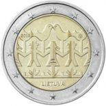 Lituania 2018 - moneta 2 euro commemorativa festival di canto e di danza 2018