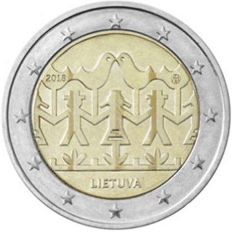 Litauen 2018 - Euro-GedächtnisMünze 2 Fest des Gesangs und des Tanzes 2018