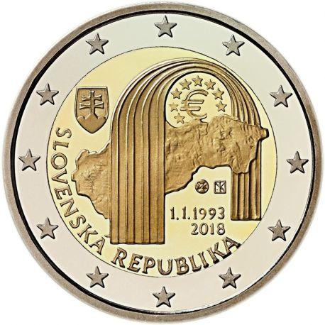 Slovacchia 2018 - moneta 2 euro commemorativa repubblica
