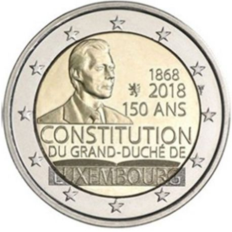 Luxembourg 2018 - Commemorative coin 2 Euro constitution