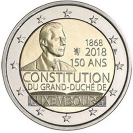 Luxemburg 2018 - Euro-GedächtnisMünze 2 Verfassung