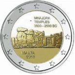 Malta 2018 - Euro-GedächtnisMünze 2 Mnajdra-Tempel