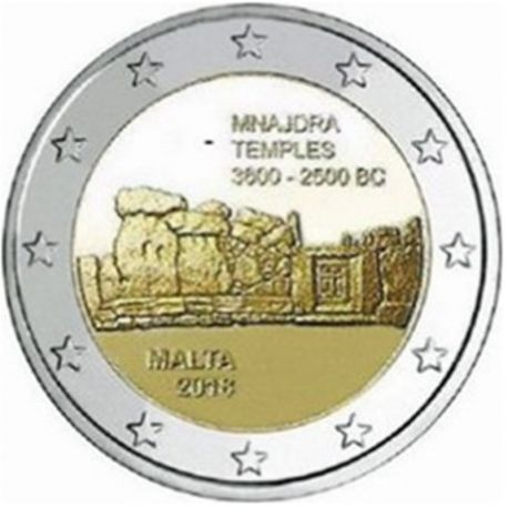 Malta 2018 - moneta 2 euro commemorativa tempio Mnajdra