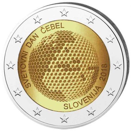 Slowenien 2018 - 2 Euro weltweiter Tag der Biene