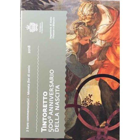 San Marino 2018 - moneta 2 euro commemorativa Jacopo Tintoretto