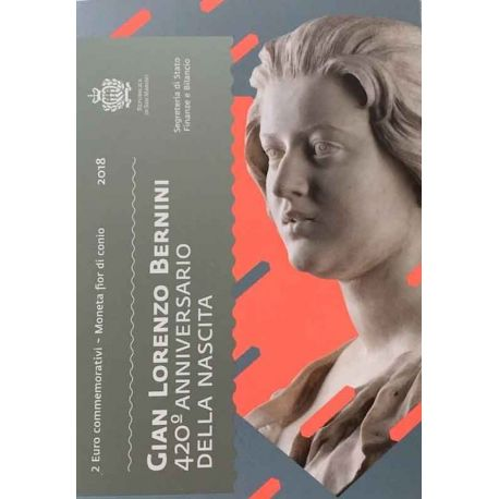 San Marino 2018 - moneta 2 euro commemorativa Gian Lorenzo Bernini