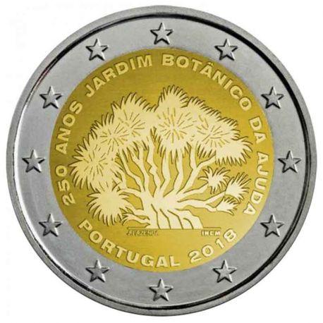 Portogallo 2018 - moneta 2 euro commemorativa giardino botanico Ajuda
