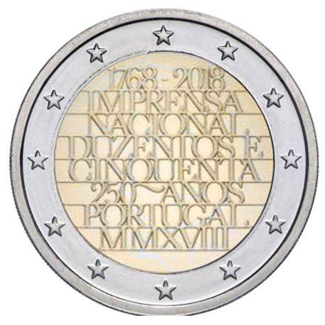 Portugal 2018 - Euro-GedächtnisMünze 2 nationale Druckerei