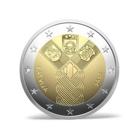 Lettonia 2018 - moneta 2 euro commemorativa 100 anni indipendenza