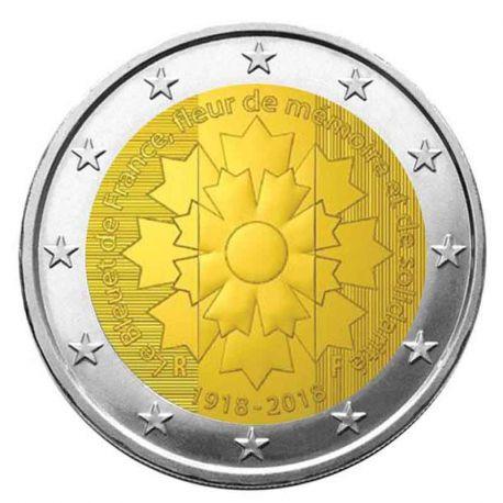 Frankreich 2018 - Euro-GedächtnisMünze 2 Kornblume