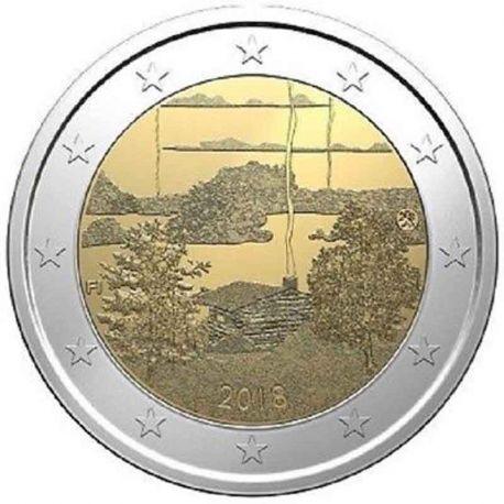 Finlandia 2018 - moneta 2 euro commemorativa cultura della sauna finlandese