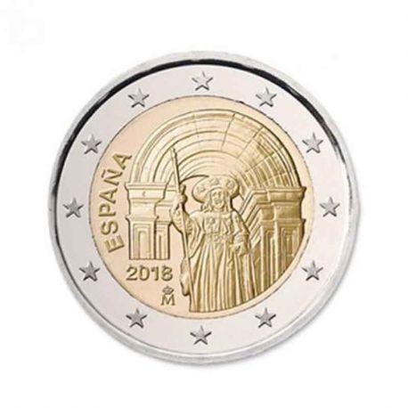 Spain 2018 - Commemorative coin 2 Euro Santiago de Compostela Saint-Jacques-with-Compostelle UNESCO