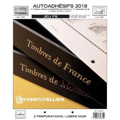 Feuilles FS Yvert et Tellier pour timbres autoadhésifs 1er semestre 2018
