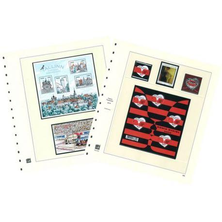 16 Safe-Blätter für Briefmarken Frankreich 2011